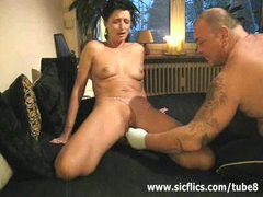 Preview 6 of Extreme Amateur Brutally Fist Fucked In Her Huge Pussy