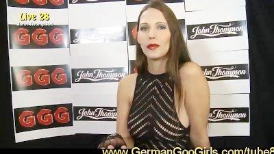Brunette Viktoria a true bukkake star