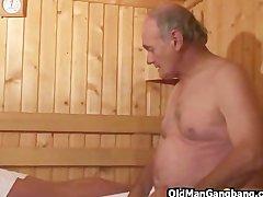 Preview 5 of Hot Euro Sauna Gangbang