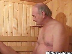 Preview 7 of Hot Euro Sauna Gangbang