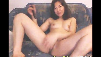 Horny Euro Babe Strokes her Pussy Slowly HD