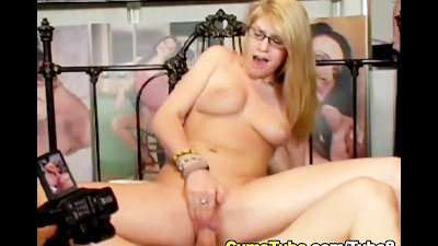 Blonde Gets Hard Fuck and Hot Jizz HD