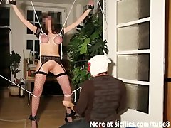 Preview 7 of Brutal Pussy Fisting In Tight Rope Bondage
