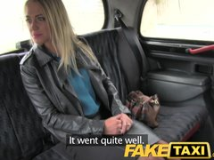 Preview 2 of Faketaxi Blonde Fucked Hard Twice In One Day