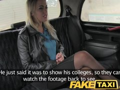 Preview 3 of Faketaxi Blonde Fucked Hard Twice In One Day