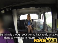 Preview 5 of Faketaxi Blonde Fucked Hard Twice In One Day