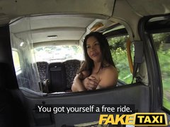 Preview 3 of Faketaxi Sexy American Falls For Old Taxi Trick