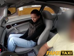 Preview 5 of Faketaxi Teen Student With Small Body Talked Into Sex By Night Taxi Man
