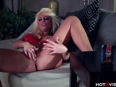 Preview 8 of Busty Blonde Bedtime Orgasm