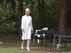 Preview 3 of Gorgeous Nurse Taking Two Cocks