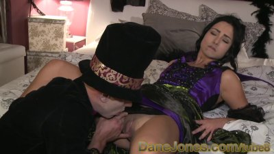 DaneJones Sinful shaved babe summons Halloween lover to pleasure her