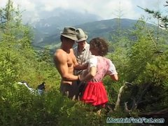 Preview 1 of Extreme Threesome Sex In Nature