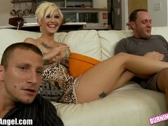 Preview 1 of Burningangel Emo Babe Kleio Ass Fucked By 2 Guys