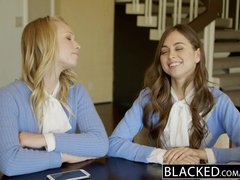 Preview 2 of Ebonyed Two Teen Girls Share A Huge Bbc