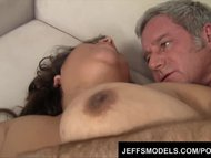 Preview 7 of Toosie's Plump Latina Pussy Gets Probed By An Old Guy's Dick