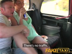 Preview 1 of Faketaxi Outrageuos Hardcore Threesome In The Back On A London Taxi