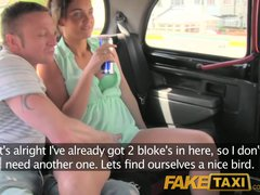 Preview 2 of Faketaxi Outrageuos Hardcore Threesome In The Back On A London Taxi