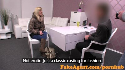 FakeAgent Cute blonde amateur takes anal in Casting