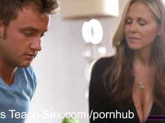 Preview 3 of Momsteachsex Young Couple Fucks Hot Older Mom