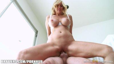 Blonde milf Julia Ann takes young cock - Brazzers