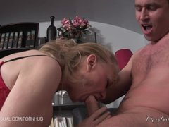 Preview 3 of Nina Hartley Is A Slutty Corporate Stepmother