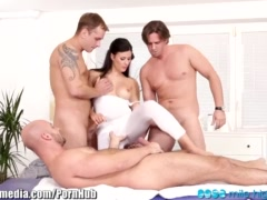 Preview 2 of Czech Babe Double Penetration Gangbang