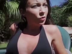 Preview 1 of Teen Step Sister Masturbating Outdoor Doggy Style Fucked Old Man Cum Eating
