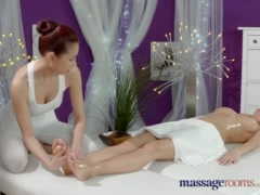 Preview 8 of Massage Rooms Lesbians With Big Natural Tits Have Sensual Orgasmic Fun