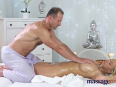 Preview 5 of Massage Rooms Horny Big Tits Blonde Milf Sucks And Fucks Hard Cock