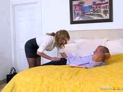 Preview 2 of Cory Chase Cheats On Her Husband - Brazzers