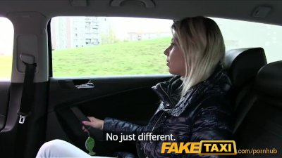 FakeTaxi Blonde babe sucks and fucks in taxi