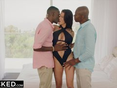 Preview 2 of Ebonyed Wife Peta Jensen Cheats With Two Guys