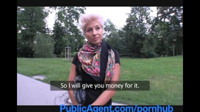 PublicAgent Blonde lesbian takes cock for money