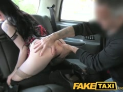 Preview 6 of Faketaxi Lady In Stockings Gets Creampied