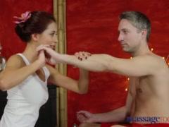 Preview 1 of Massage Rooms Nympho Asian Fucks Big Cock Before Hot Hand Job
