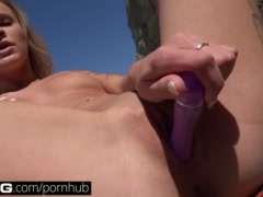 Preview 7 of Bang: College Teen Emma Gets Creamy On The Beach