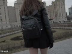 Preview 1 of Jeny Smith Seamless Pantyhose Public Upskirt