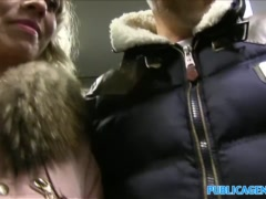 Preview 3 of Public Agent Cheating Wife With Short Blonde Hair Fucks For Cash