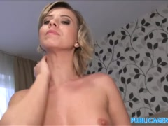 Preview 8 of Public Agent Cheating Wife With Short Blonde Hair Fucks For Cash