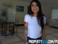 Preview 2 of Propertysex - Hot Asian Tenant With Big Tits Fucks Her Landlord