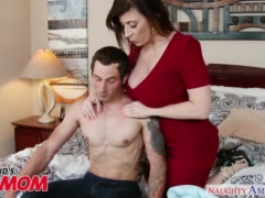Preview 6 of Busty Milf Sara Jay Seduces, Sucks And Fucks Her Son\\'s Bud -naughty America