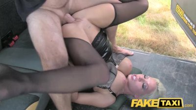 Fake Taxi Deep throat gagging MILF gets backseat facial