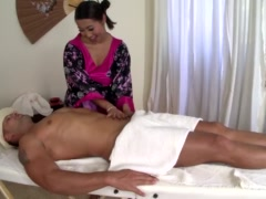 Preview 8 of Beautiful Asian Masseuse Sharon Lee Gets Holed Deep & Hard!